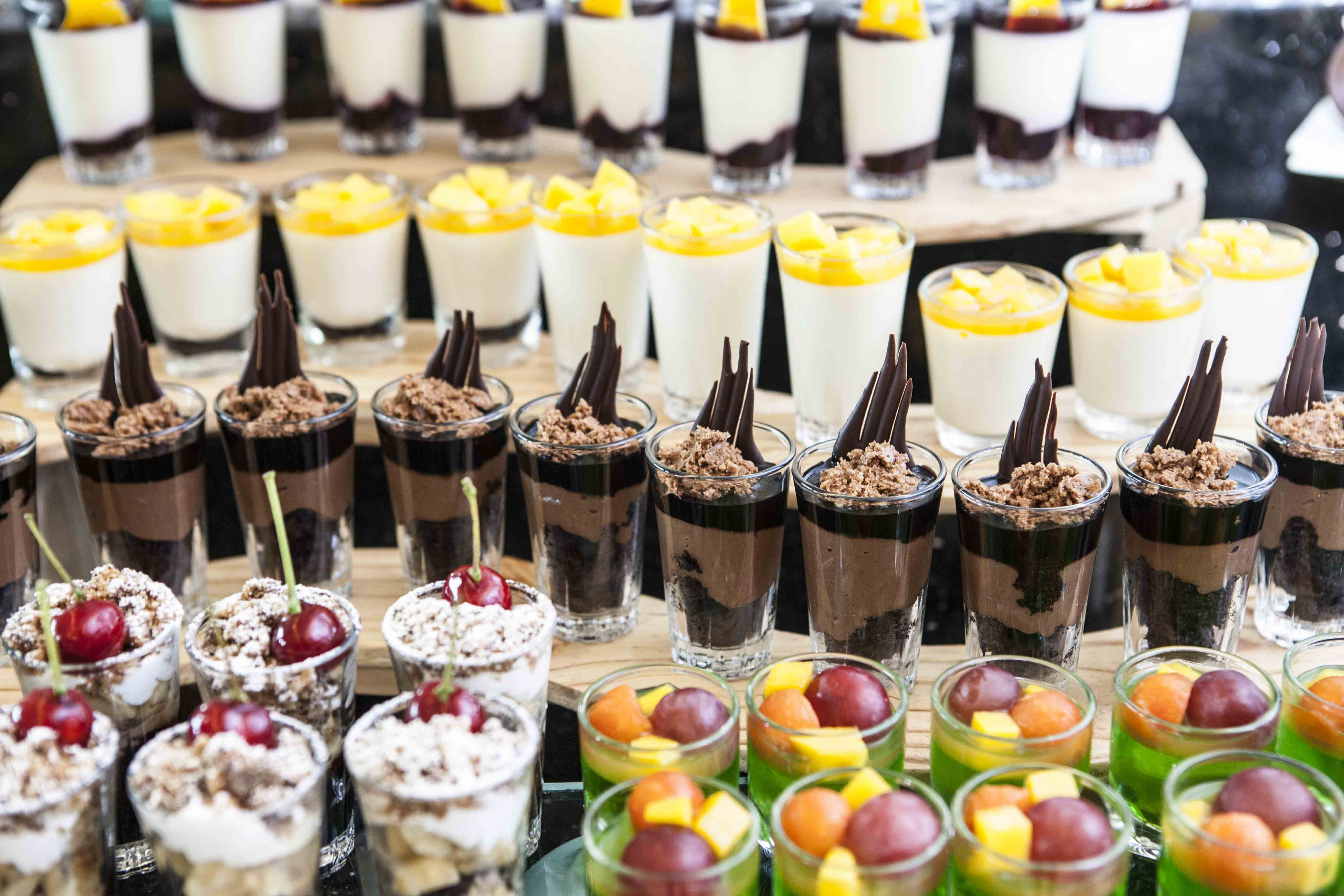 Delicious deserts from your wedding caterer on the Costa Blanca