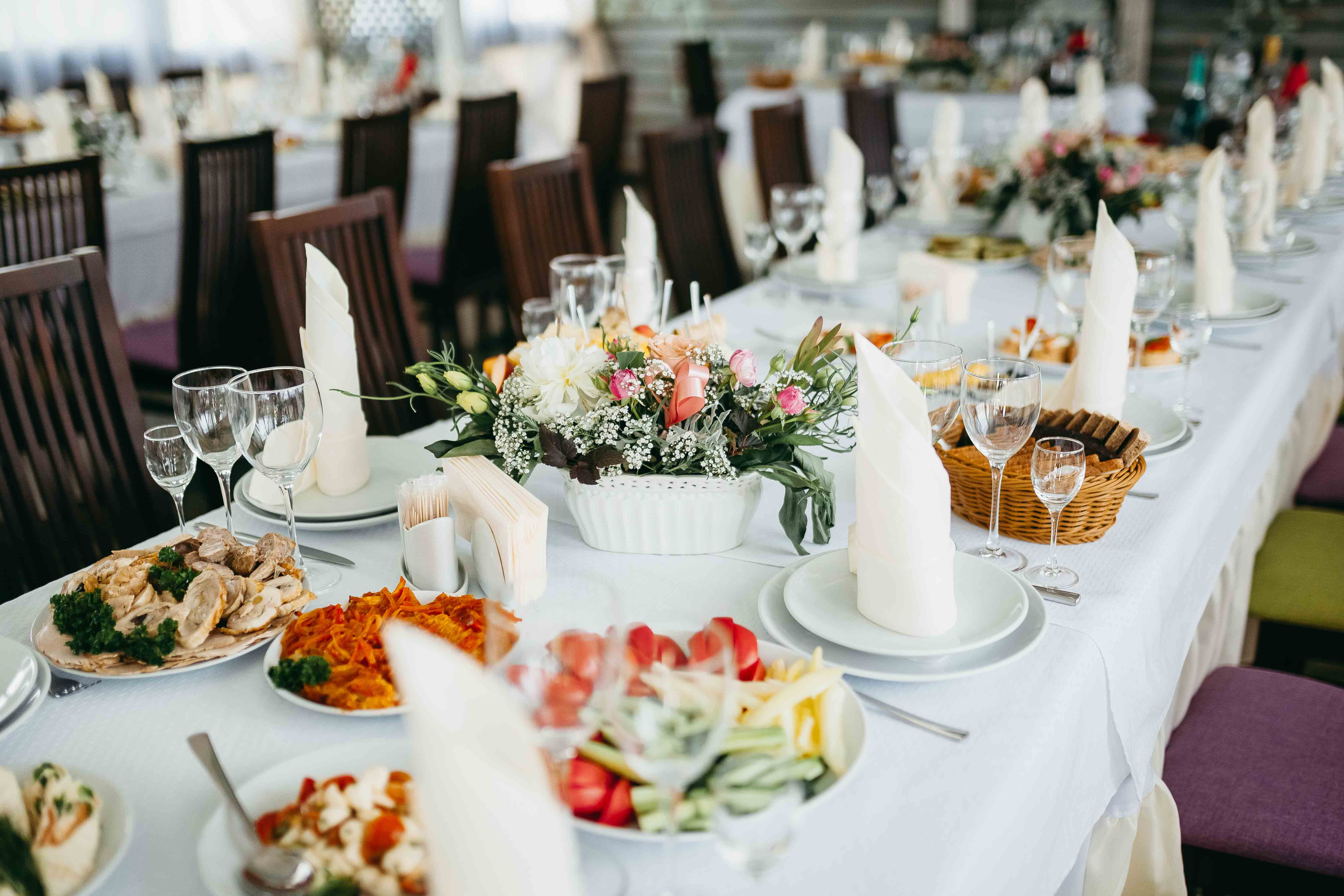 Costa Blanca Special Events Catering table setting