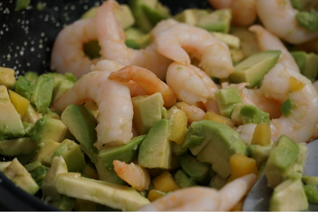 fresh avocado mango and prawn salad by CHEF AT HOME CATERING ALBIR